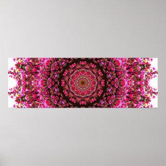 Pink Panoramic Mandala Poster