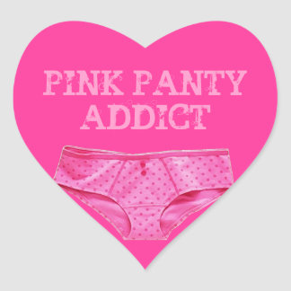 PINK PANTY ADDICT (Heart Sticker) Heart Sticker