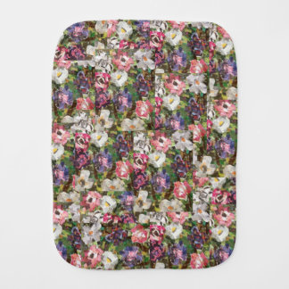 """""""Pink Paper Flower"""" Collage Burp Cloth"""