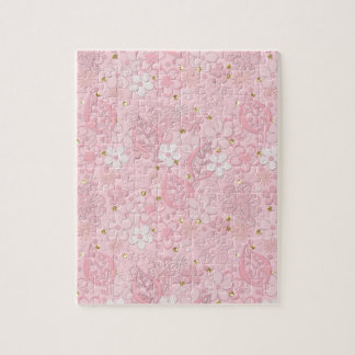 Pink paper flowers jigsaw puzzle