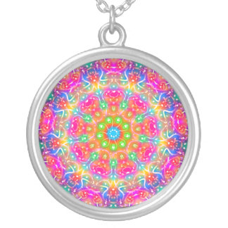 Pink Paradise Mandala Necklace