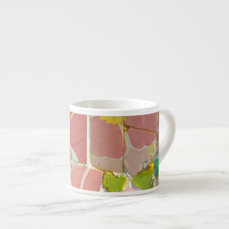Pink Parc Guell Tiles in Barcelona Spain Espresso Cup