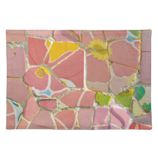 Pink Parc Guell Tiles in Barcelona Spain Placemat