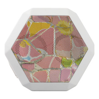 Pink Parc Guell Tiles in Barcelona Spain White Bluetooth Speaker