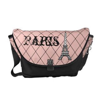 Pink Paris Eiffel Tower Messenger Bag Purse Gift