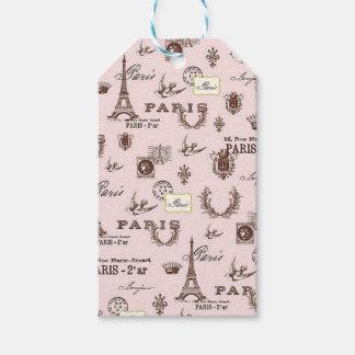 Pink Paris Gift Tags