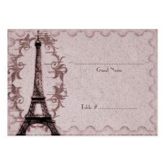 Pink Paris Grunge Reception Seating Card Business Card