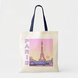 Pink Paris Illustration Tote Bag