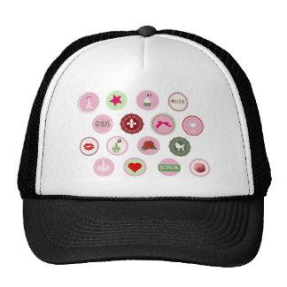 Pink Paris love girly pattern Mesh Hats