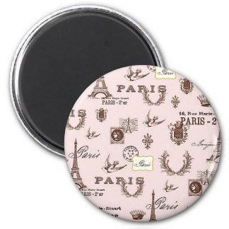 Pink Paris Magnet