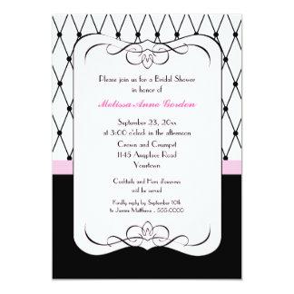 Pink Parisian Bridal Shower Invitation