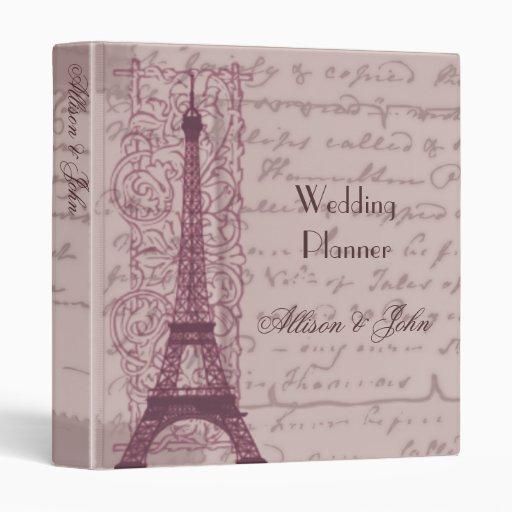 Pink Parisian Wedding Planner Binder