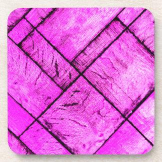 Pink Parquet Floor Coaster