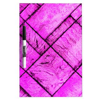 Pink Parquet Floor Dry Erase Board