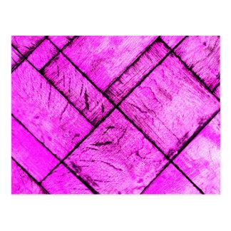 Pink Parquet Floor Postcard