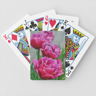 Pink parrot tulips bicycle playing cards