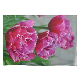 Pink parrot tulips placemat