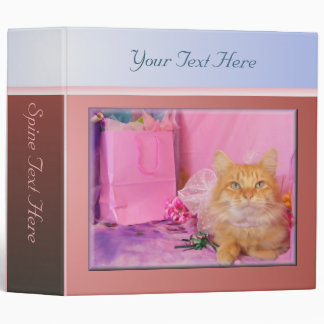 Pink Party Kitty Binder
