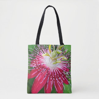 Pink Passion Flower All-Over-Print Tote Bag