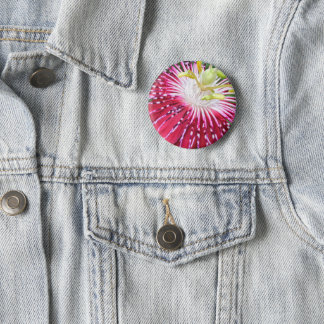 Pink Passion Flower Badge 2 Inch Round Button