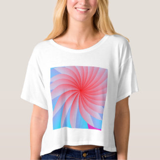 Pink Passion Flower Canvas Boxy Crop Top