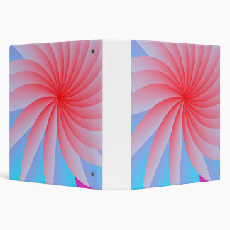 Pink Passion Flower Ring Binder