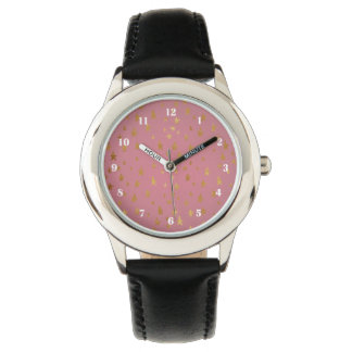 Pink Passion Golden Stars Watch