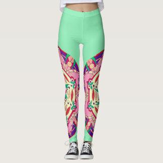 """""""Pink Passionflower"""" original artwork leggings"""