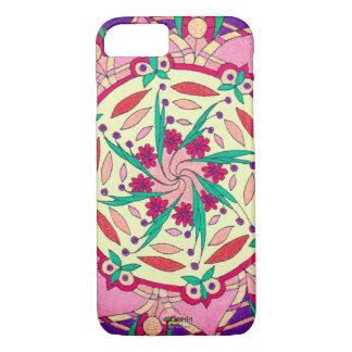 """Pink Passionflower"" original artwork Phone Case"
