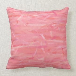 Pink Pastel Color Art Throw Pillow