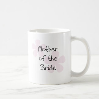 Pink Pastel Flowers Mother of Bride Coffee Mug