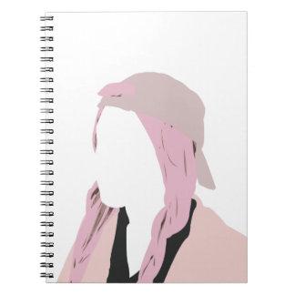 Pink pastel girl spiral notebook