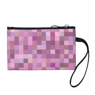 Pink pastel mosaic coin purse