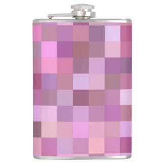 Pink pastel mosaic hip flask