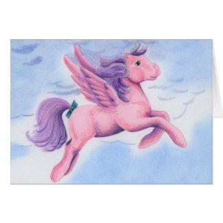 Pink Pastel Pegasus Greeting Card