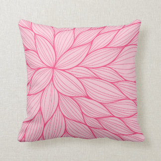 Pink Pastel Petal Watercolor Pillow