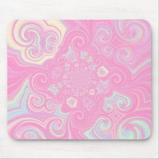 Pink Pastel Swirl Mousepad