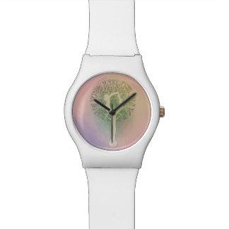 Pink Pastel Yoga Tree Wrist Watches