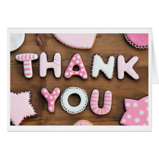 Pink Patch Thank You Card