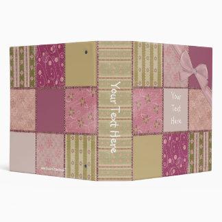 Pink Patchwork Binder