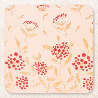 Pink Patron design for Custom Square Coasters