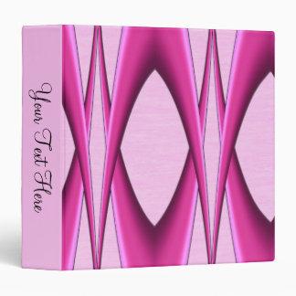 Pink Pattern 3 Ring Binder