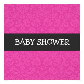 Pink Pattern Background  Baby Shower Invitations