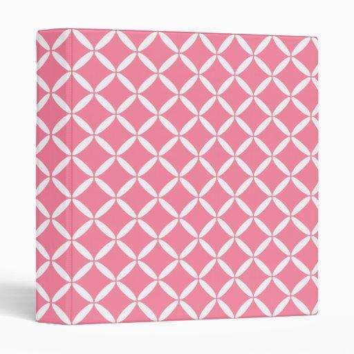 Pink Pattern Binder