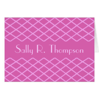 pink pattern customizable card