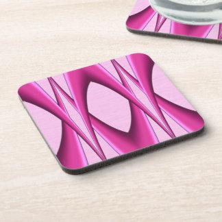 Pink Pattern Drink Coaster