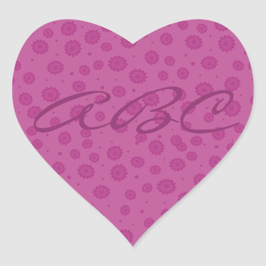 Pink Pattern Heart Sticker