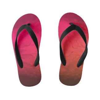 pink pattern kid's flip flops