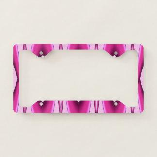 Pink Pattern License Plate Frame