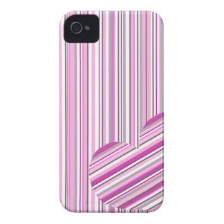 Pink pattern love iPhone 4 covers